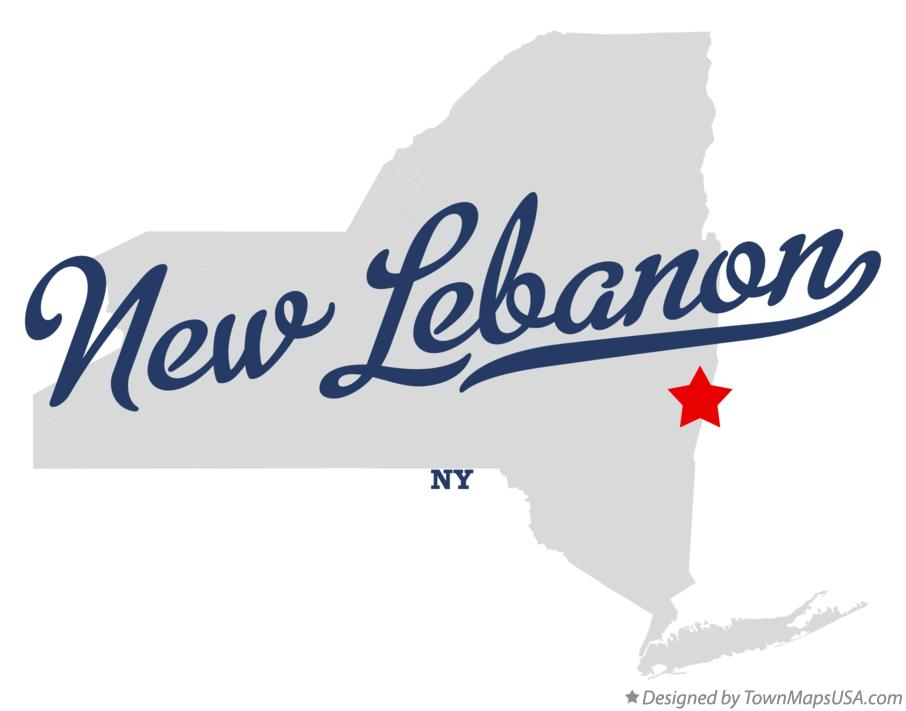 Map of New Lebanon New York NY