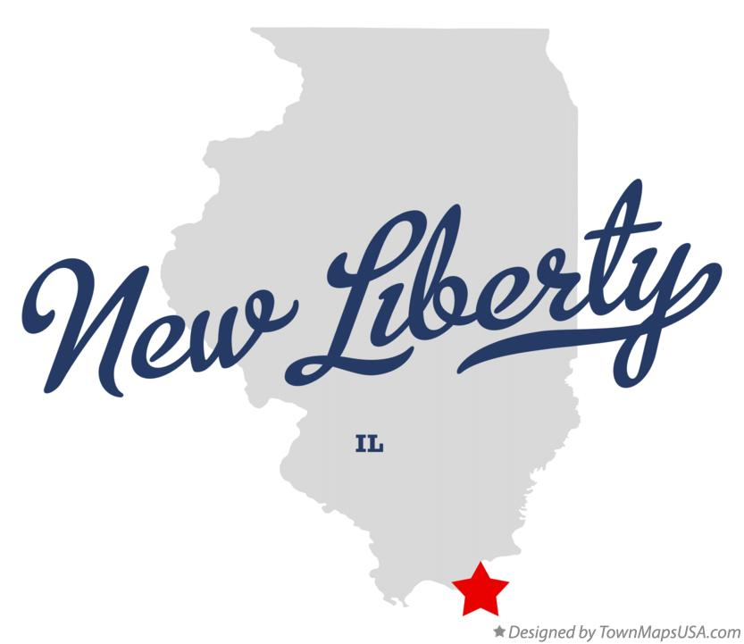 Map of New Liberty Illinois IL
