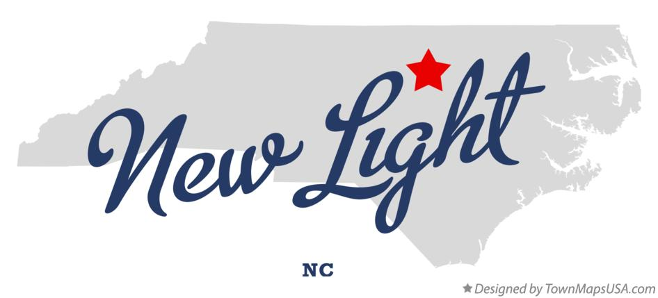 Map of New Light North Carolina NC