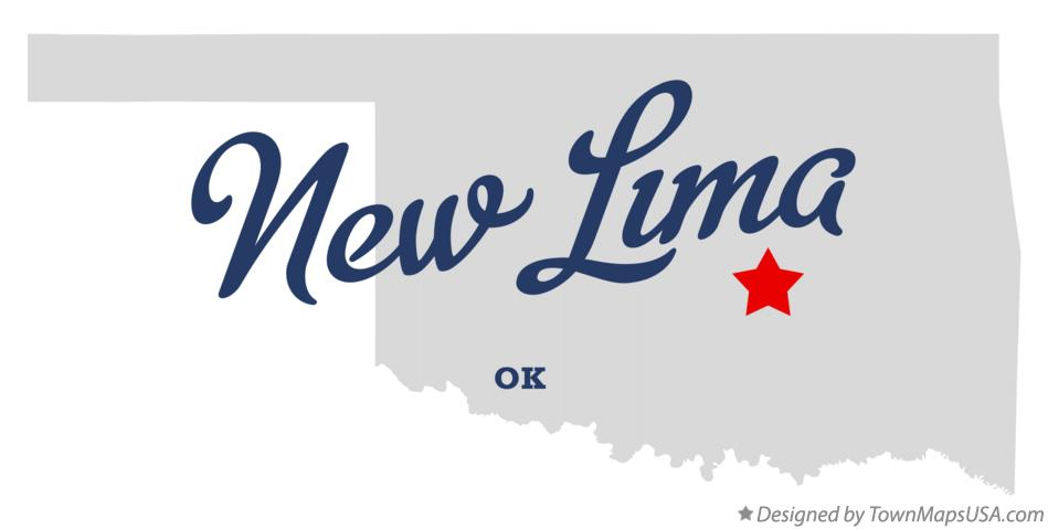 Map of New Lima Oklahoma OK