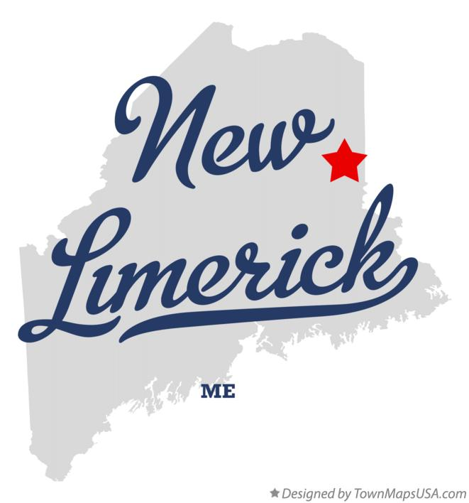 Map of New Limerick Maine ME