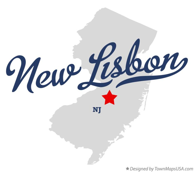 Map of New Lisbon New Jersey NJ