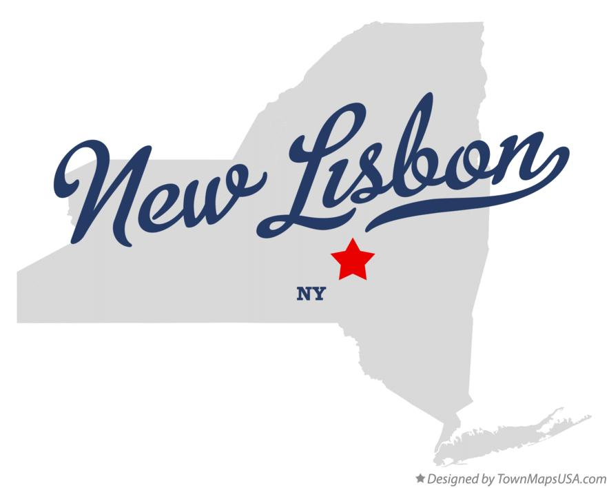 Map of New Lisbon New York NY