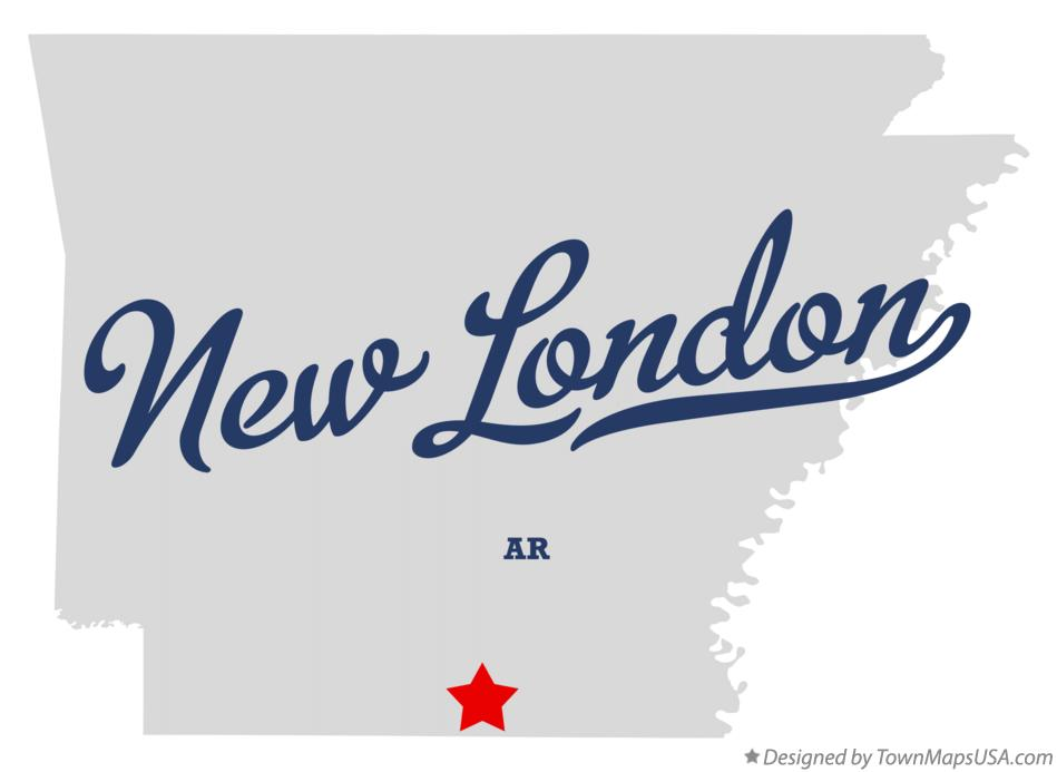 Map of New London Arkansas AR
