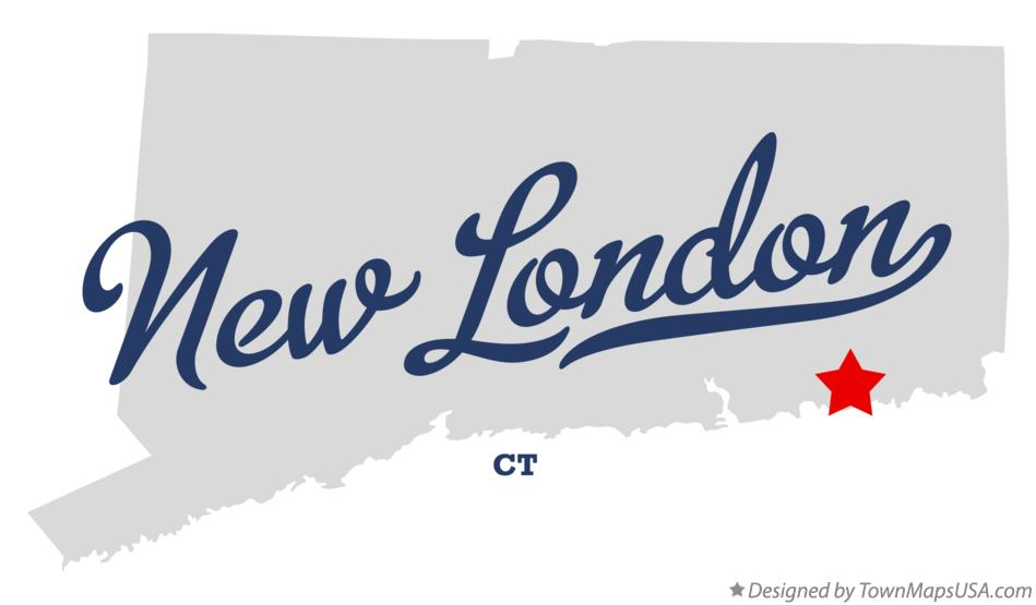 Map of New London Connecticut CT