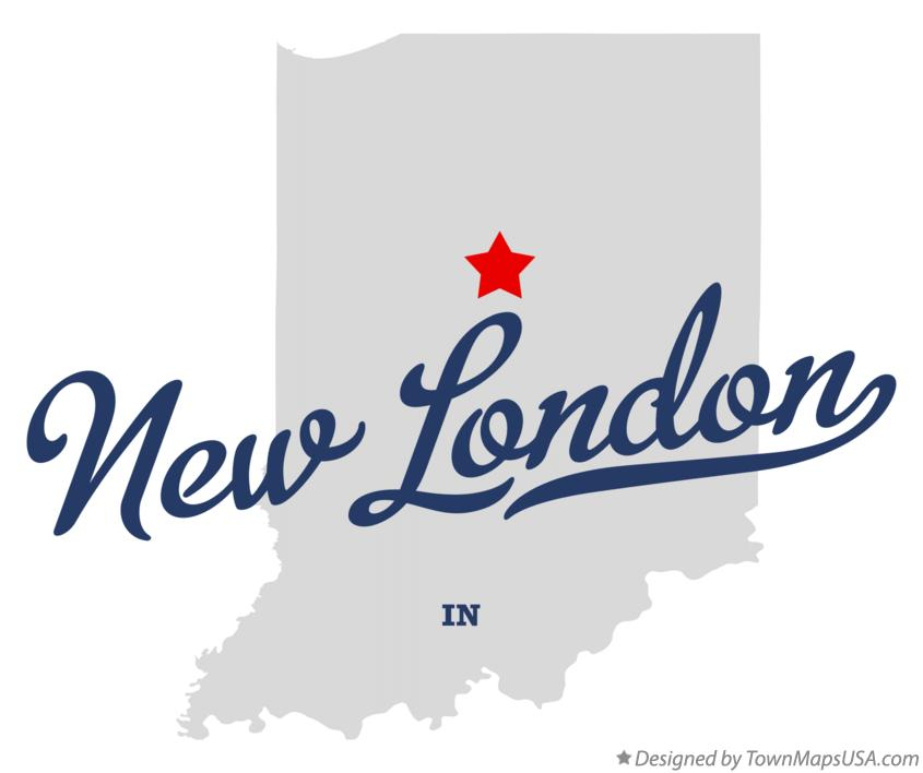 Map of New London Indiana IN