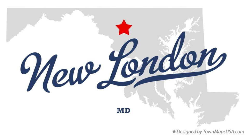 Map of New London Maryland MD