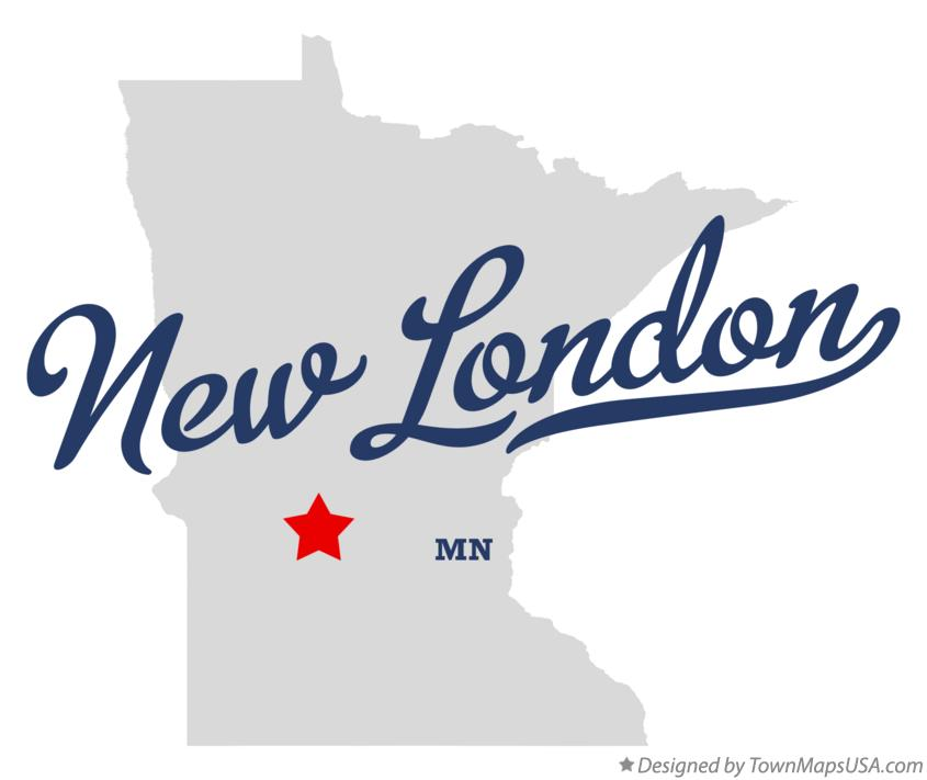 Map of New London Minnesota MN