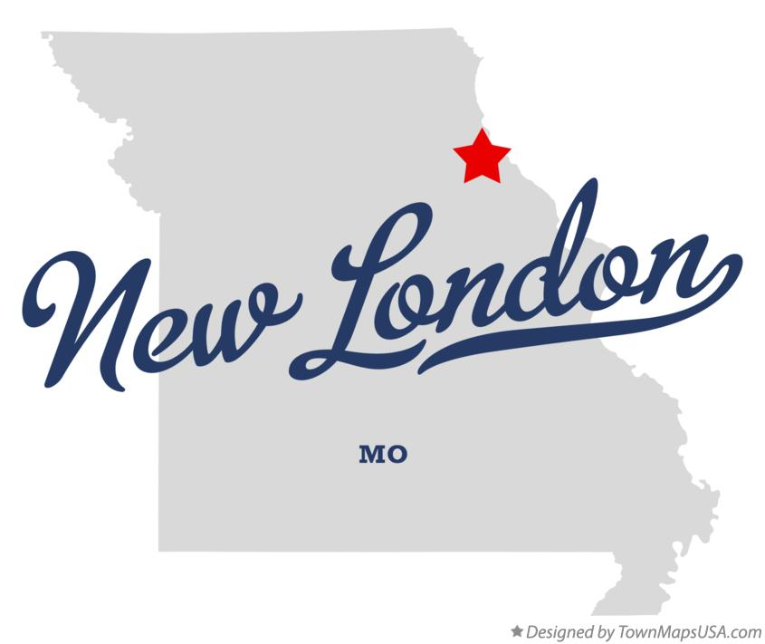 Map of New London Missouri MO