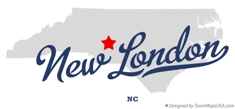 New London Nc Map.Map Of New London Nc North Carolina