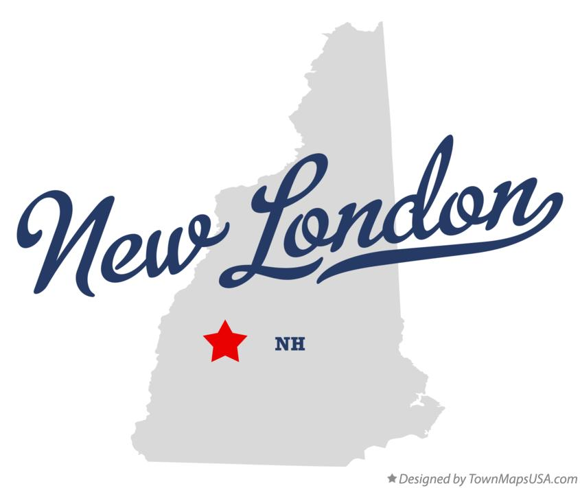 Map of New London New Hampshire NH