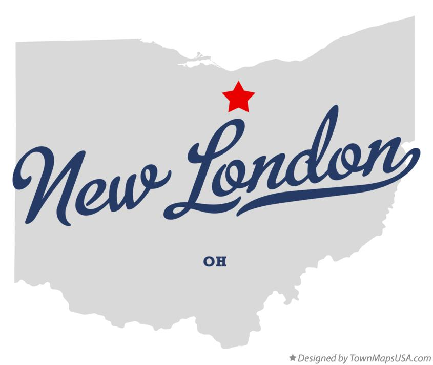 Map of New London Ohio OH