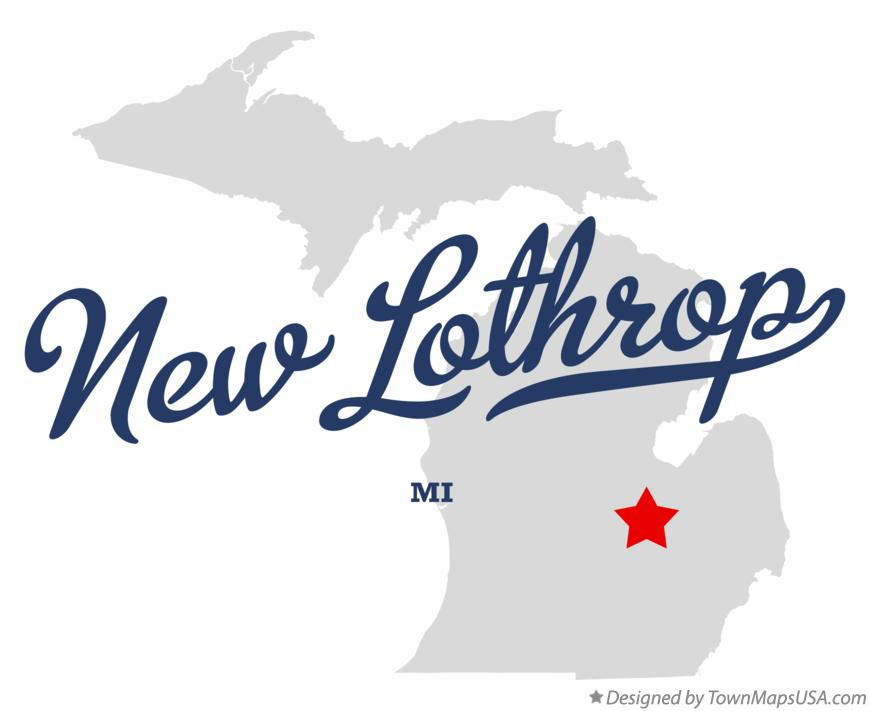 Map of New Lothrop Michigan MI