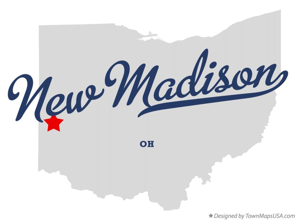 Map of New Madison Ohio OH