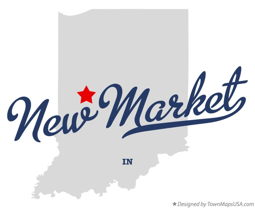 Map of New Market Indiana IN