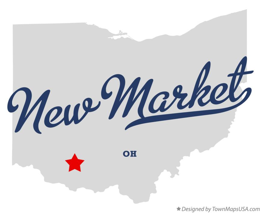 Map of New Market Ohio OH