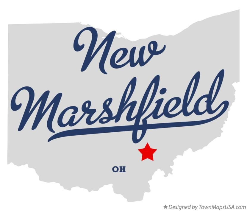 Map of New Marshfield Ohio OH