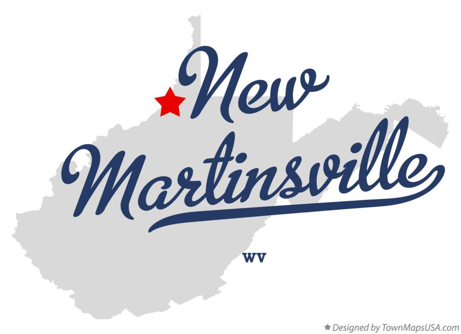 Map of New Martinsville West Virginia WV