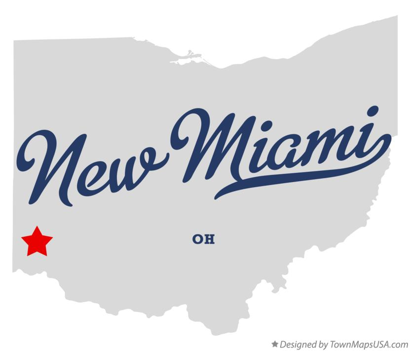 Map of New Miami Ohio OH