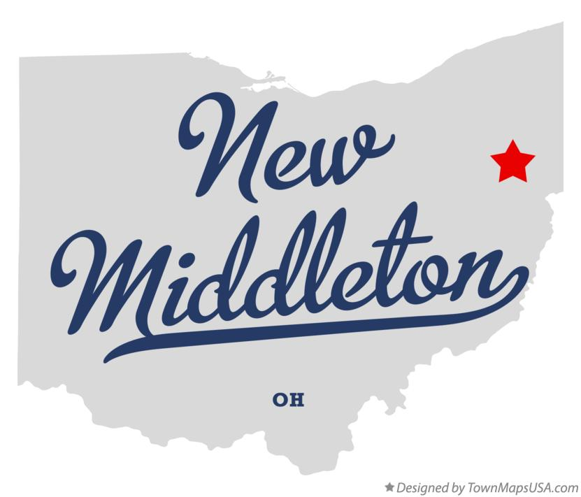 Map Of New Middleton Oh Ohio