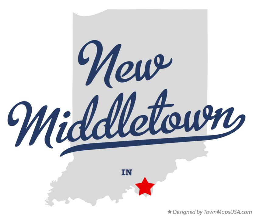 Map of New Middletown Indiana IN
