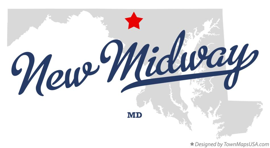 Map of New Midway Maryland MD