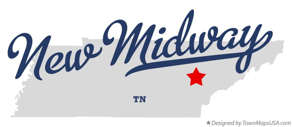 Map of New Midway Tennessee TN