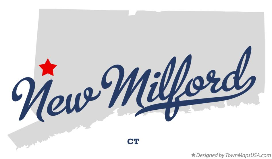 Map of New Milford Connecticut CT