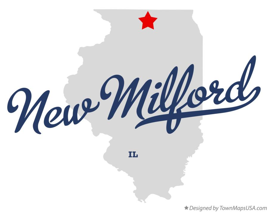 Map of New Milford Illinois IL