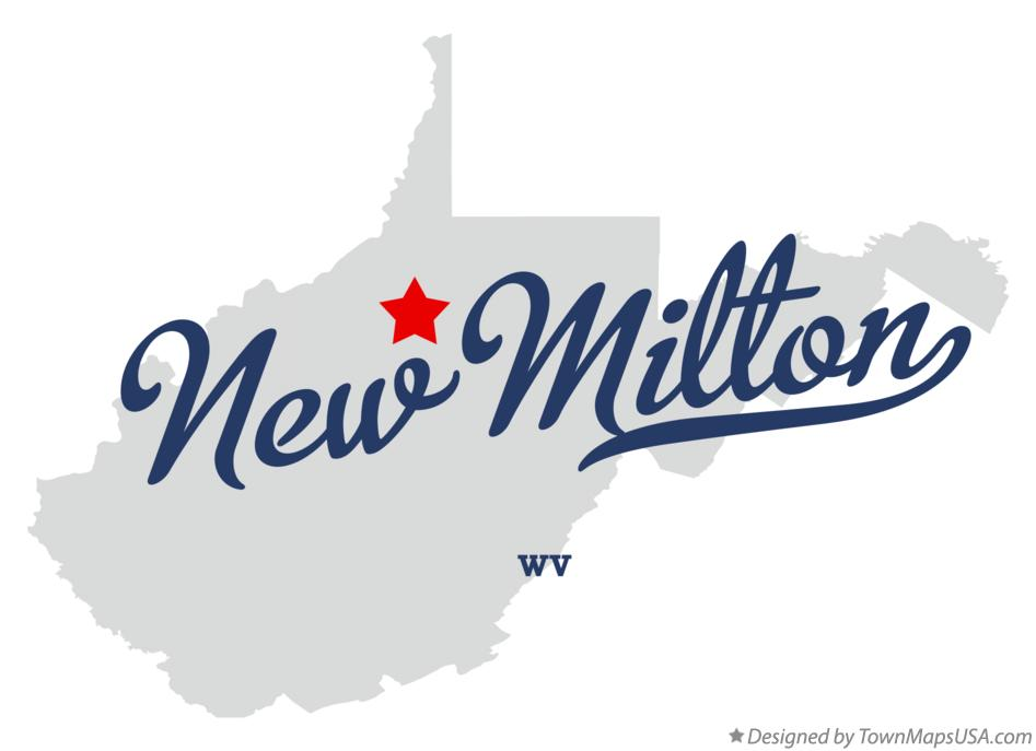 Map of New Milton West Virginia WV