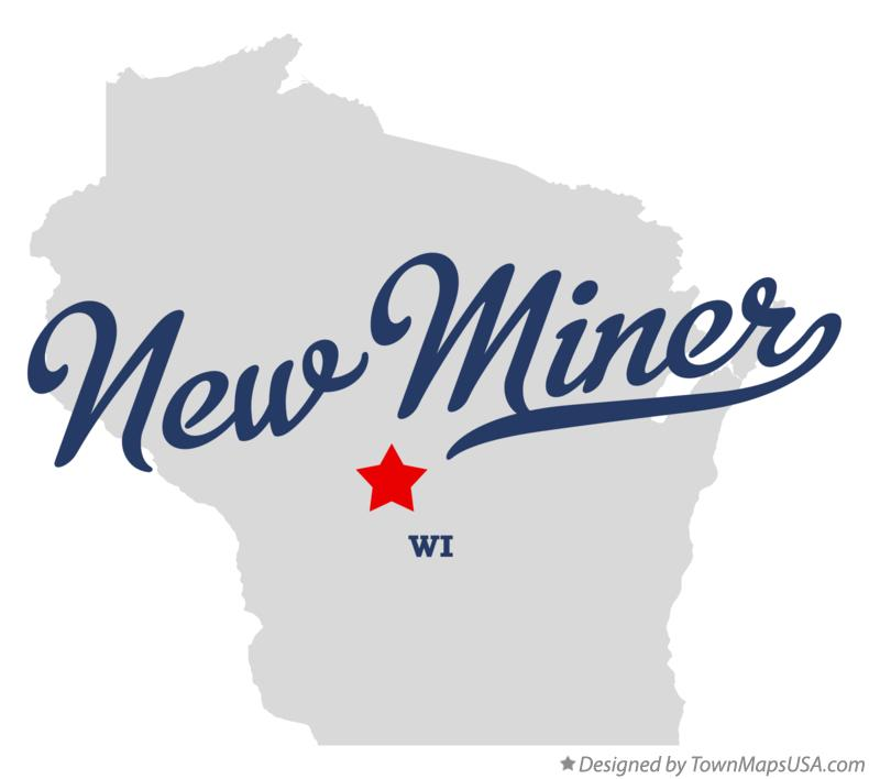 Map of New Miner Wisconsin WI