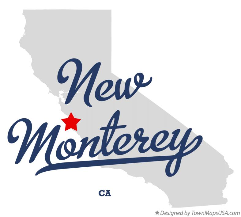 Map of New Monterey California CA