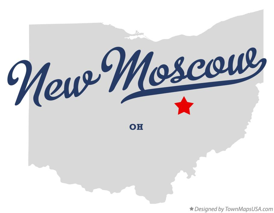 Map of New Moscow Ohio OH