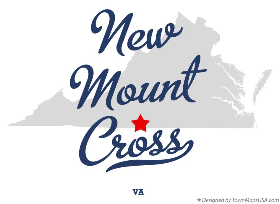 Map of New Mount Cross Virginia VA