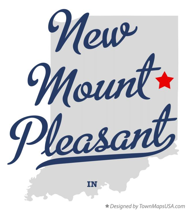 Map of New Mount Pleasant Indiana IN
