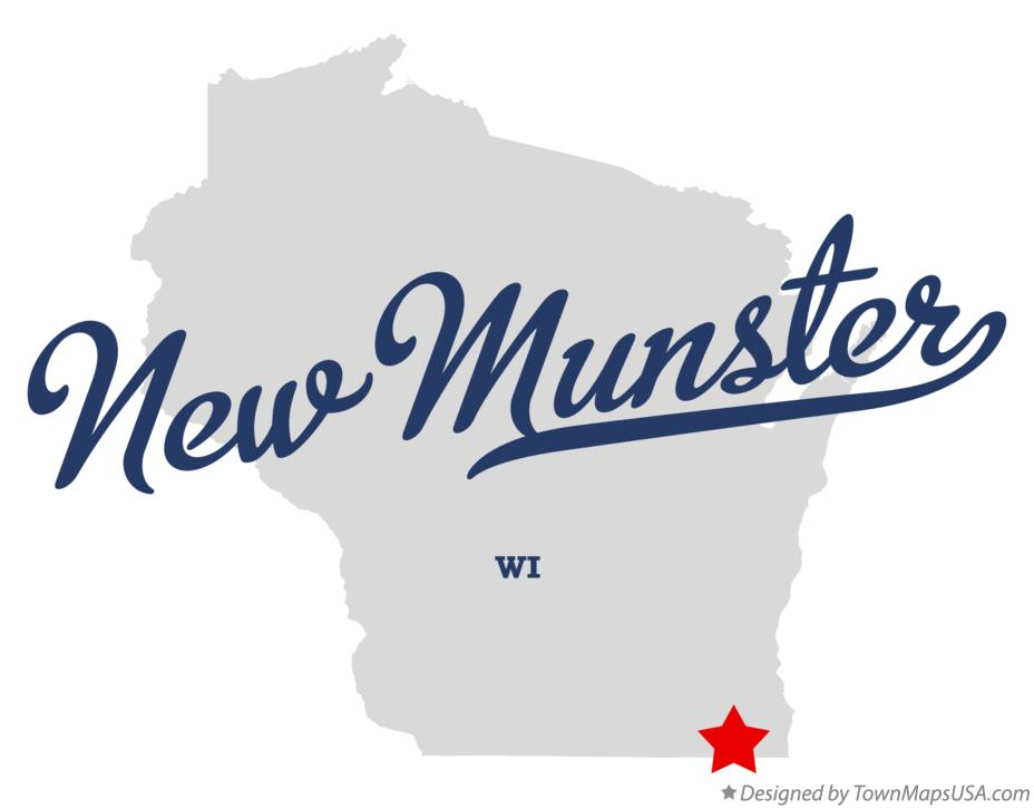 Map of New Munster Wisconsin WI