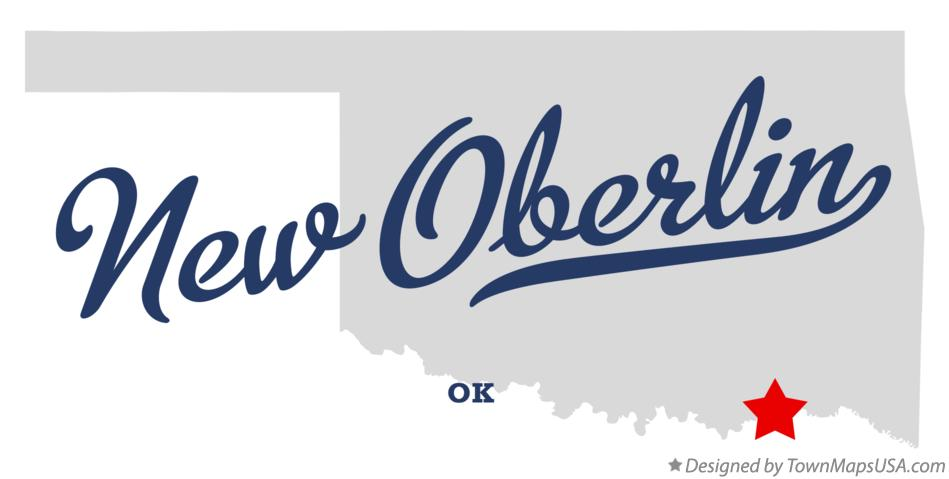 Map of New Oberlin Oklahoma OK