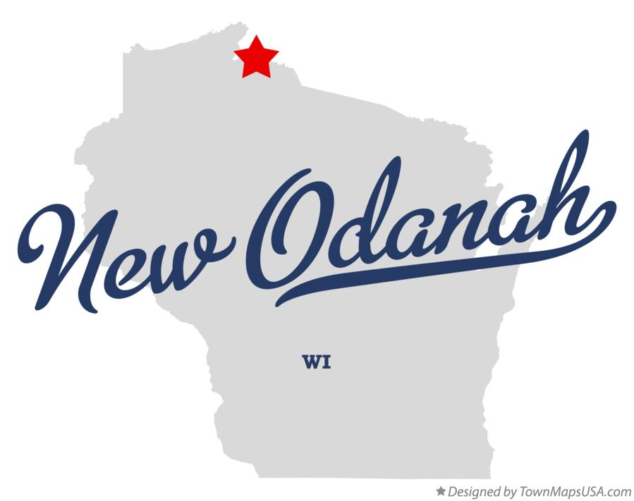 Map of New Odanah Wisconsin WI