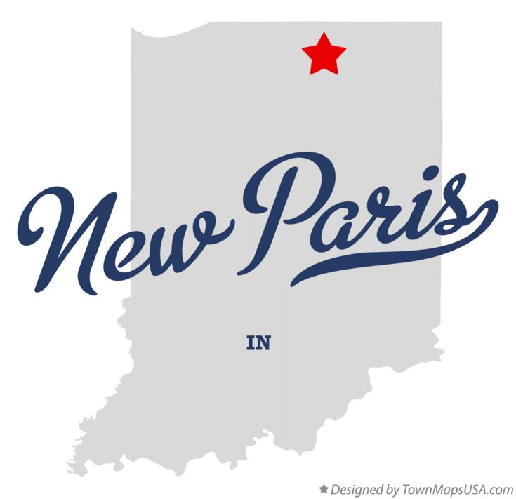 Map of New Paris Indiana IN