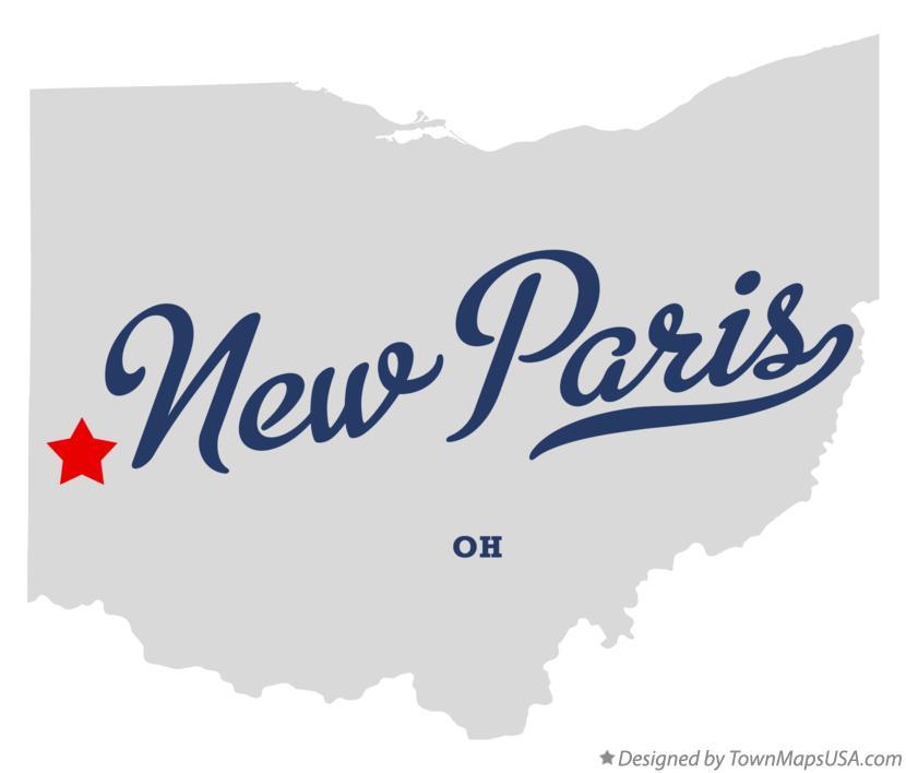New Paris Ohio Map.Map Of New Paris Oh Ohio