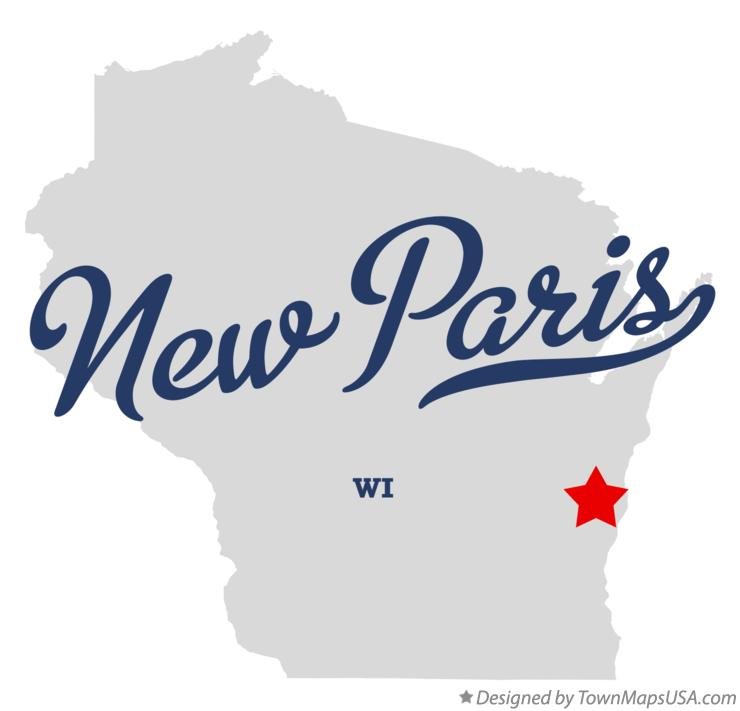 Map of New Paris Wisconsin WI