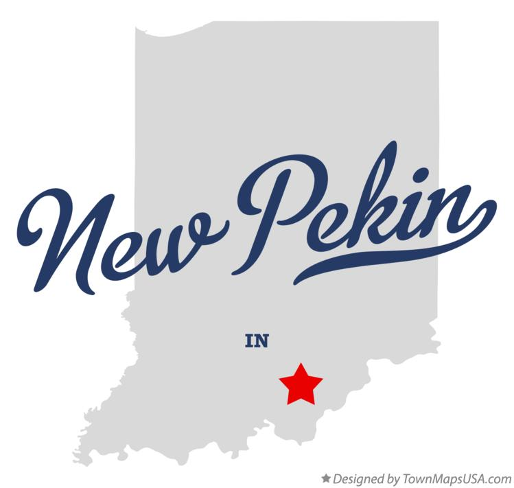 Map of New Pekin Indiana IN