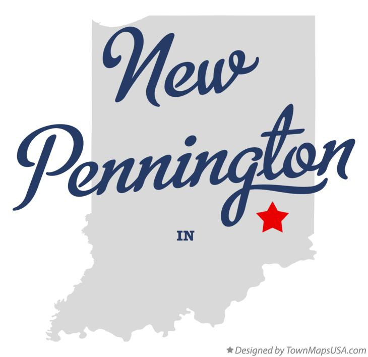 Map of New Pennington Indiana IN