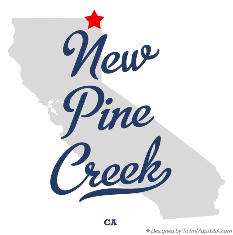 Map of New Pine Creek California CA