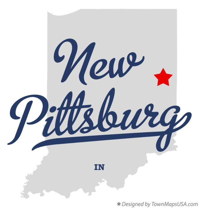 Map of New Pittsburg Indiana IN