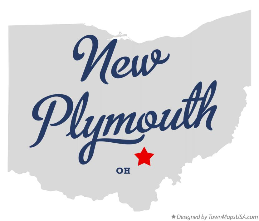 Map of New Plymouth Ohio OH