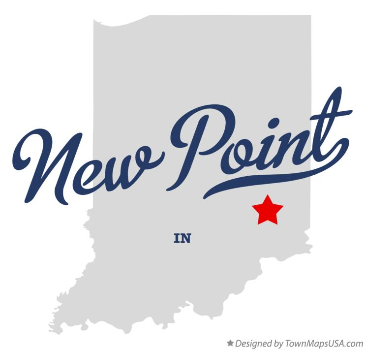 Map of New Point Indiana IN