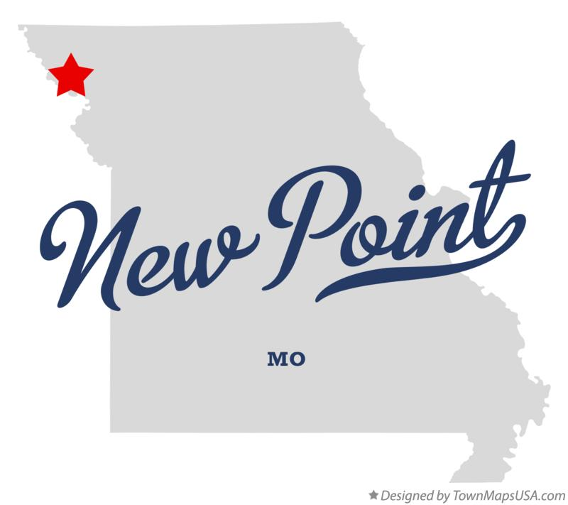 Map of New Point Missouri MO