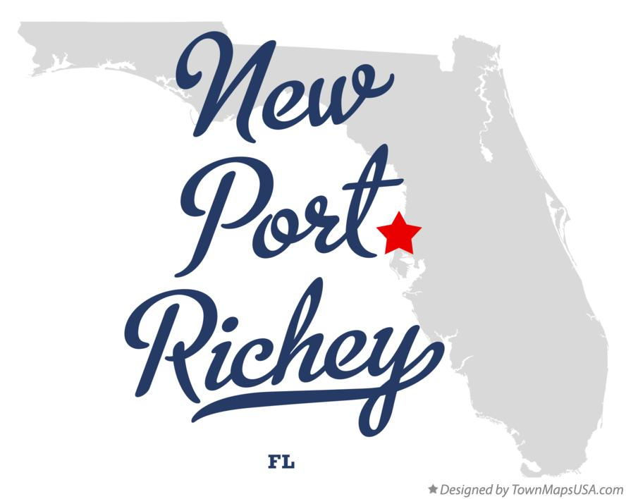 Where Is New Port Richey Florida On Florida Map.Map Of New Port Richey Fl Florida