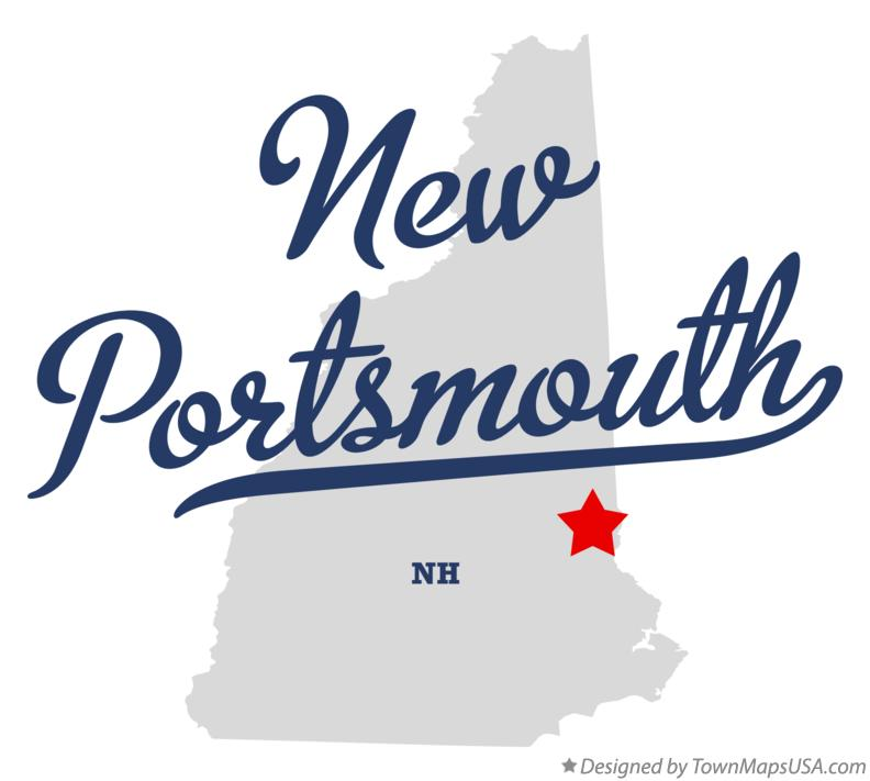 Map of New Portsmouth New Hampshire NH